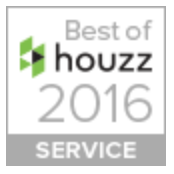 Best Customer Service accolade awarded by Houzz