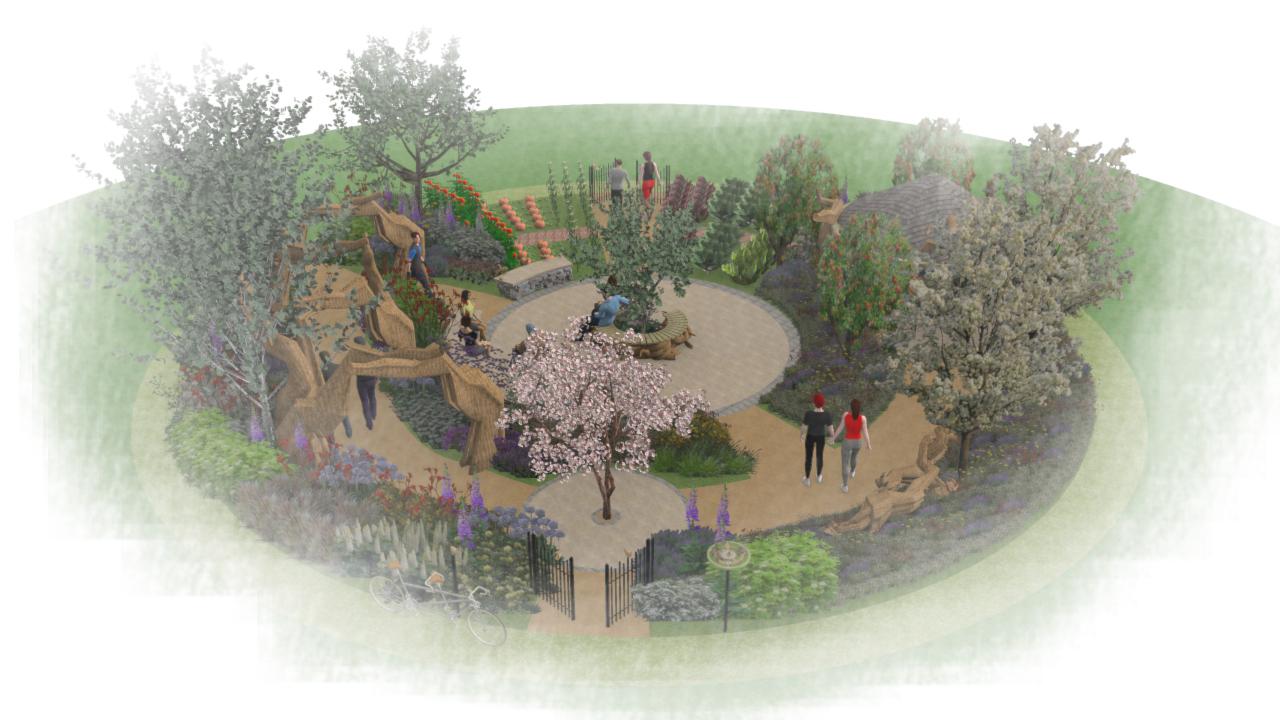 Designing the Blind Veterans UK garden