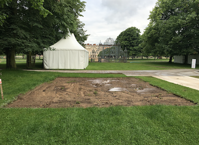 Hampton Court Palace Flower Show work begins!