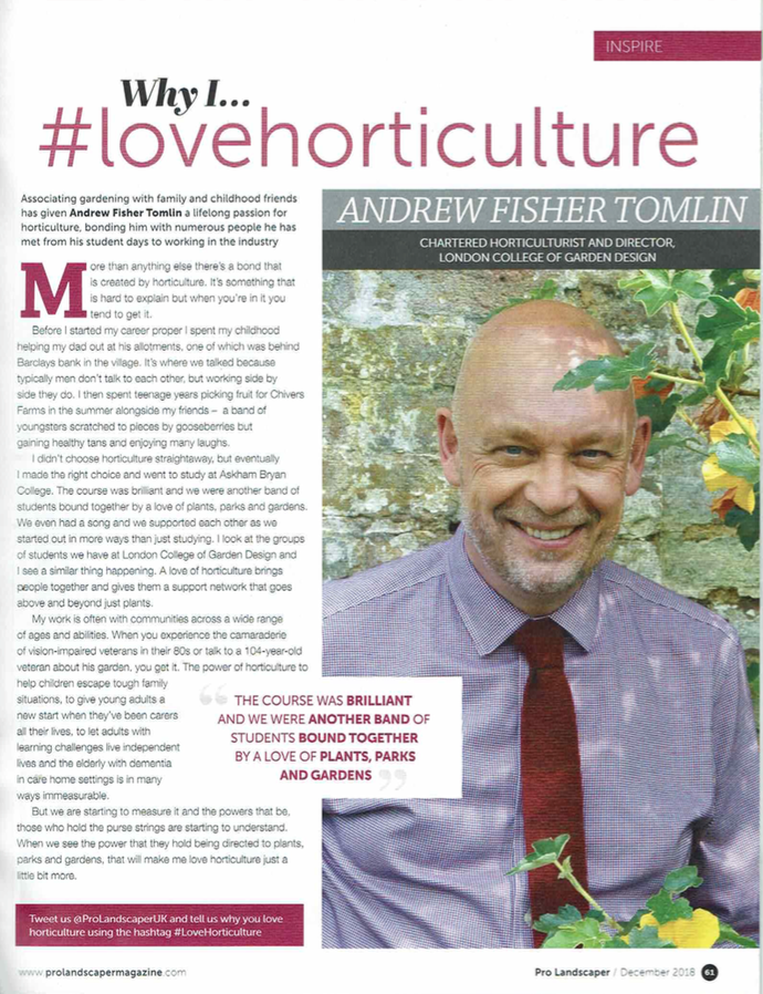 Why I… #lovehorticulture