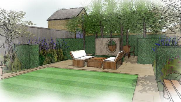 Contemporary Garden Design in Wimbledon